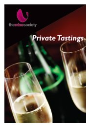 Private Tastings - The Wine Society