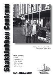 Klubblad nr. 1/2007 - Skakklubben Centrum