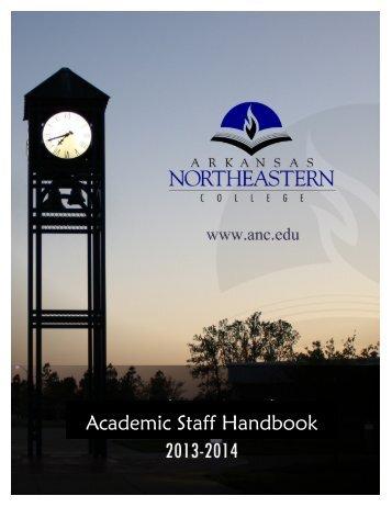 Academic Staff Handbook 07-08 - Arkansas Northeastern College