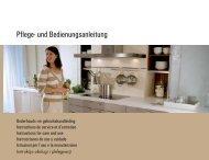 Pflege- und Bedienungsanleitung