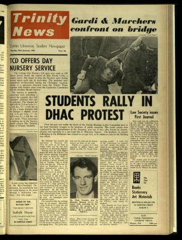 TUDEN RALLY IN DHAC PROT - Trinity News Archive