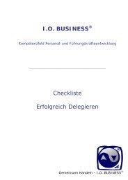 Checkliste Erfolgreich Delegieren - I.O. Business