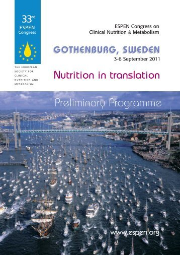 gothenburg, sweden - European Society for Clinical Nutrition and ...