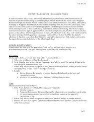 Dress Code - Reynoldsburg City Schools