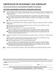 CERTIFICATE OF OCCUPANCY (CO) CHECKLIST - City of Dallas - Page 2