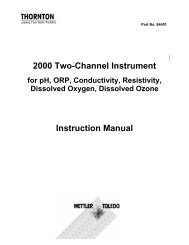 2000 Two-Channel Instrument Instruction Manual - Mettler Toledo