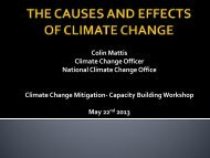 THE CAUSES AND EFFECTS OF CLIMATE CHANGE - Belize