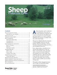 Sheep Production Guide, EM 8916-E (Oregon State University ...