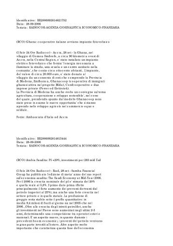 n.44 del 27 settembre 2006.pdf - Notiziario Farnesina - Il Sole 24 Ore