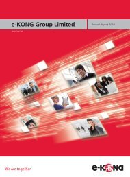 2010 Annual Report - e-KONG Group Limited