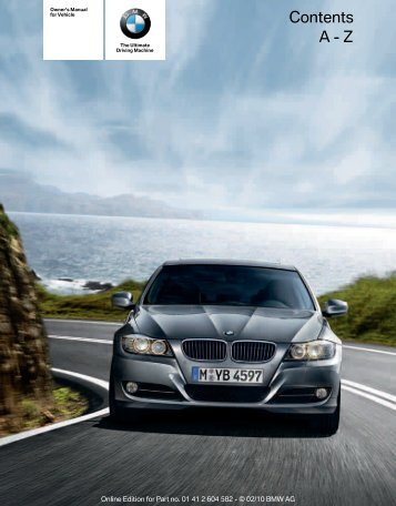 2011 3 Series Sports Wagon Owner's Manual with iDrive - Irvine BMW