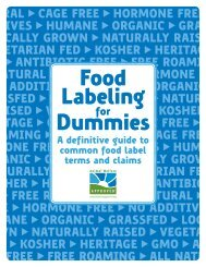 Food Labeling Dummies - Animal Welfare Approved