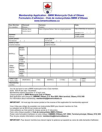 Membership Application - BMW Motorcycle Club of Ottawa ...