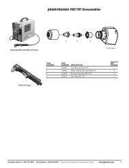 powermax380 PAC110T Consumables - Walsh Engineering Supplies