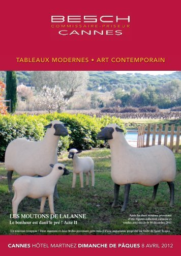 tableaux modernes • art contemporain - Besch Cannes Auction