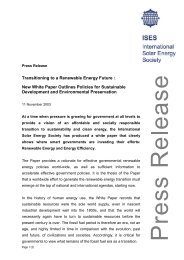 Transitioning to a Renewable Energy Future ... - ISES White Paper