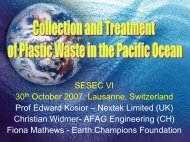 Decontamination of floating pollution from the sea - sesec