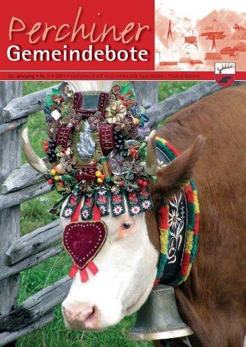 Perchiner Gemeindebote Nr. 05/2011 (4,69 MB