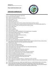 Final Inspection Checklist
