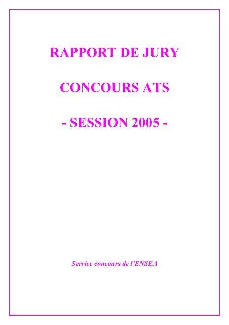 RAPPORT DE JURY - Concours ENSEA