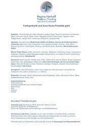Farbsymbolik und Aura-Soma Produkte gold - Dolfosan Coaching