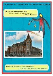 JUGE COMMISSAIRE- commentaire M Duysinx - Juridat