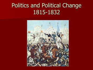Politics and Political Change 1815-1832