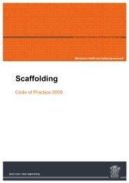 Scaffolding Code of Practice 2009 - Queensland Government