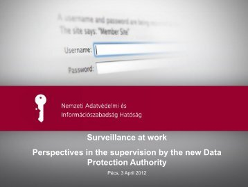 Surveillance at work Perspectives in the supervision by the new ...