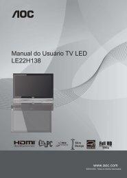 Manual do Usuário TV LED LE22H138 - AOC