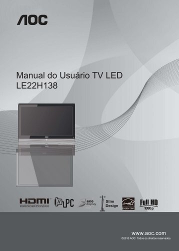Manual do Usuário TV LED LE22H138 - AOC