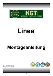 Montageanleitung Linea - KGT