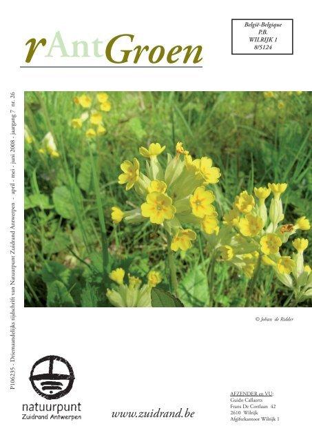 rAntGroen 26 : april - juni 2008 - Welkom op de site van Natuurpunt ...