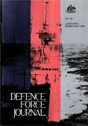 ISSUE 26 : Jan/Feb - 1981 - Australian Defence Force Journal