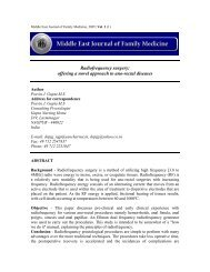 Radiofrequency surgery - Middle East Journal of Family Medicine
