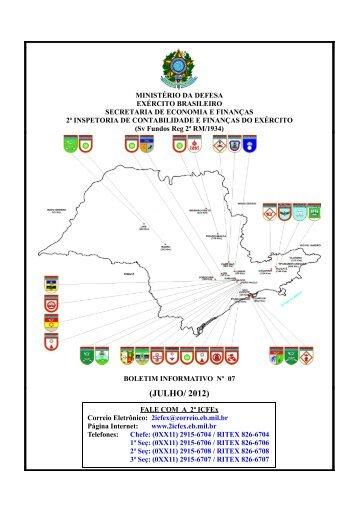 (JULHO/ 2012) - 2ª ICFEx - Exército Brasileiro