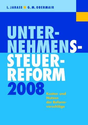 Unternehmenssteuerreform 2008 - Jarass