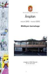 Årsplan for Midtbyen barnehage 2013 - Ålesund kommune