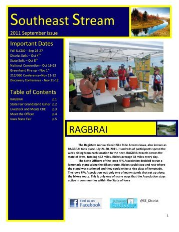 download september edition here - Iowa FFA Association