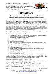 Mencegah kontak dengan timbal di tempat kerja di Indonesia