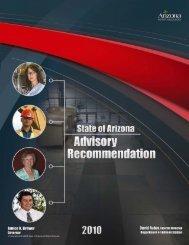 2010 Salary Recommendation - Arizona Human Resources