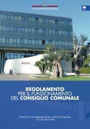 regolamento per il funzionamento del consiglio comunale