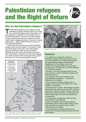 Palestinian refugees and the Right of Return - Palestine Solidarity ...