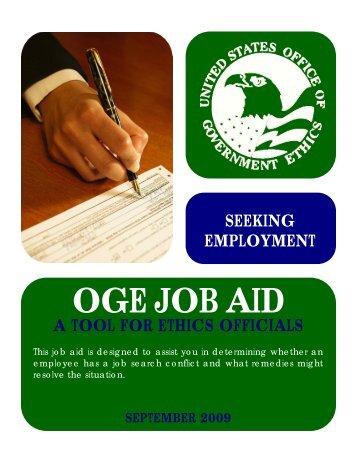 Analyzing Seeking Employment Situations - US Office of ...
