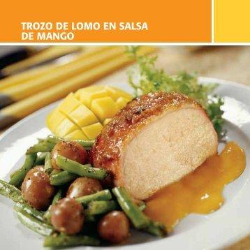 Trozo de Lomo en Salsa de Mango - Mango Mexicano