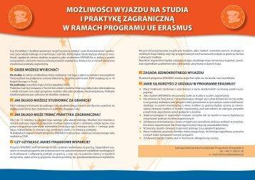 możliwości wyjazdu na studia i praktykę zagraniczną w ramach ...
