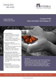 Read more... - Interra Information Technologies