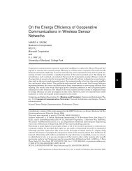 On the energy efficiency of cooperative communications in wireless ...