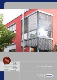 Aluminium - Raffstoren - Schmitz-Fenster GmbH