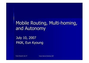 Mobile Routing, Multi-homing, and Autonomy